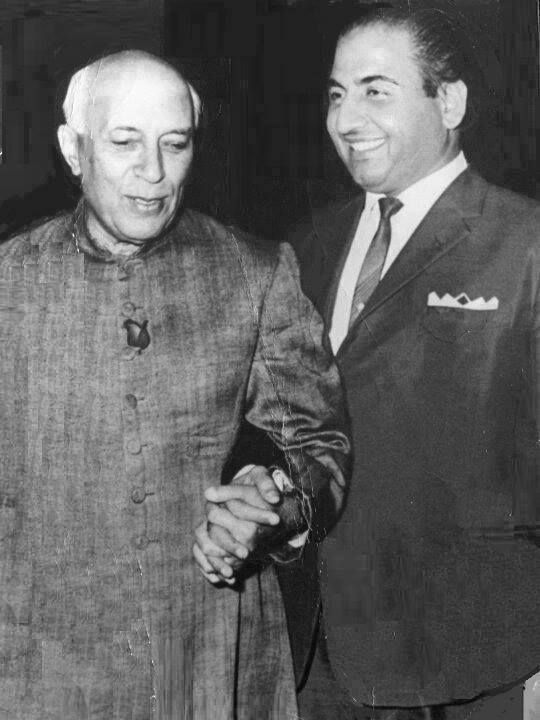 With Indian Prime Minister Nehru