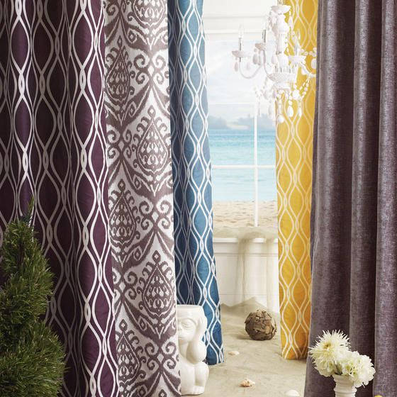 Assorted summer drapery panels