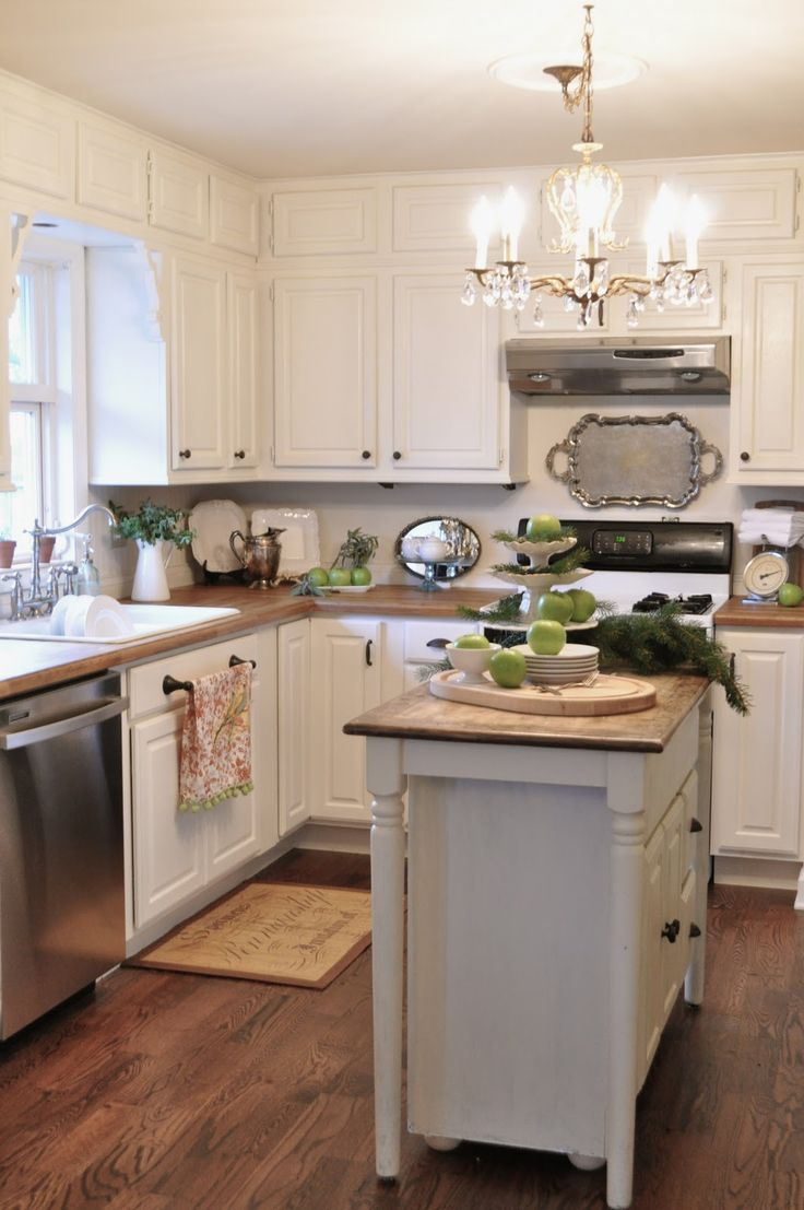 50 Little Kitchens That Will Change Everything You Know About Small Spaces.  Upper CabinetsWhite ...