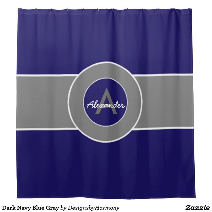 Dark Navy Blue Gray Shower Curtain Shower Curtains Pinterest Showers C