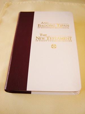 Tagalog - English Bilingual New Testament / Small size Catholic Approved / Golden Edges, Fine Luxury Binding / Philippine TPTEV 235 I GE / Talaan ng Mga Salita - Wordlist