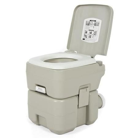 Portable Toilet 5 Gallon Dual Spray Jets Travel Outdoor Camping Hiking Toilet - Walmart.com