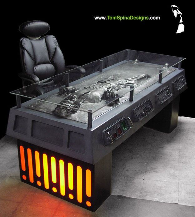 The Han Solo Carbonite Desk