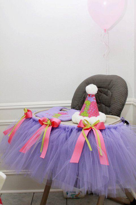 Birthday High Chair TuTu by TamaraMarieOriginals on Etsy