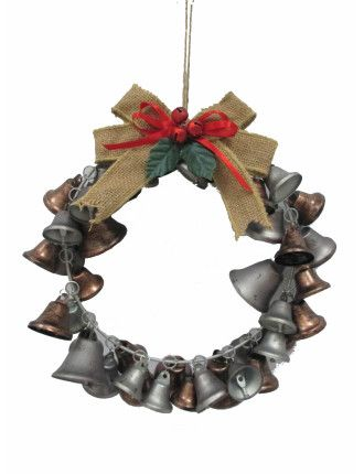 Wreath Liberty Bells Metallic