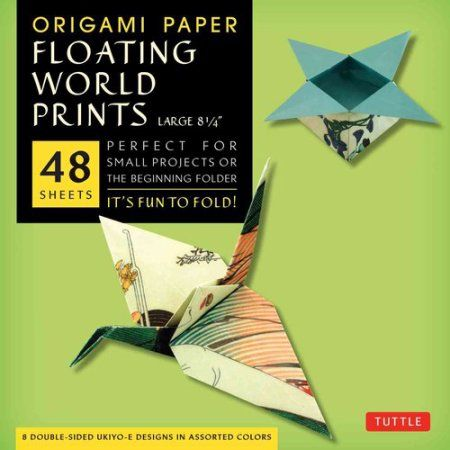 Origami Paper Floating World Prints Large 8 1/4, Multicolor