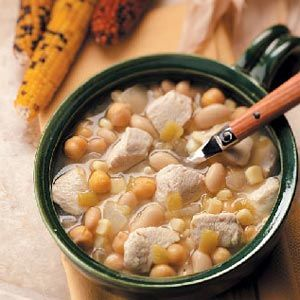 Slow-Cooked White Chili Recipe from Taste of Home -- shared by Lori Weber of Wentzville, Missouri #crockpot #crock_pot
