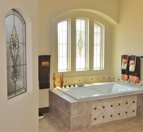 Custom Stained Glass Bathroom Art Glass window Pinterest