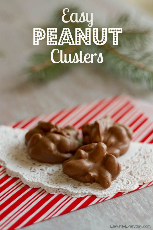 Easy Peanut Clusters recipe! A great snack and would make a great gift or perfect for cookie exchanges! Recipe includes peanuts, chocolate, peanut butter, and butterscotch chips.