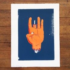"""Hand"" Screen Print by Toby Morris"