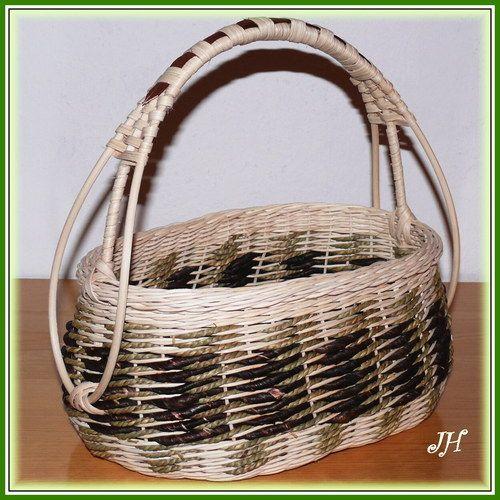 Přírodní oválný košík
