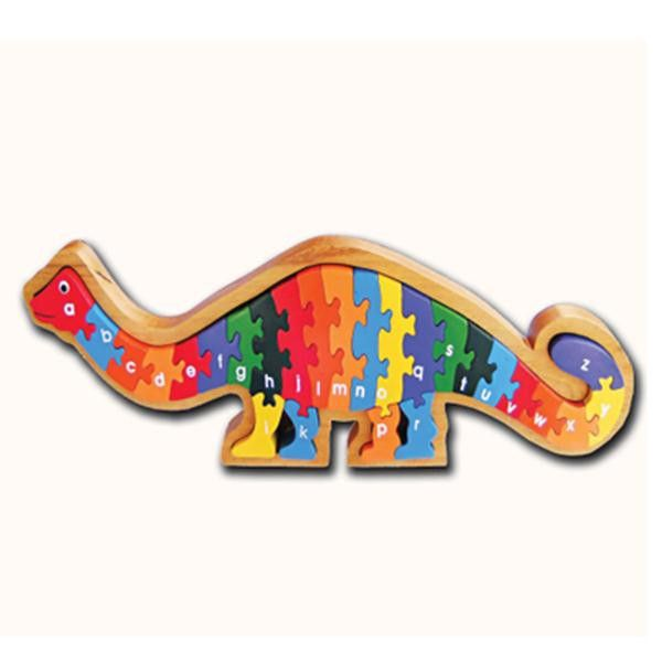 26 Piece Wooden Puzzle A-Z in a wooden tray.