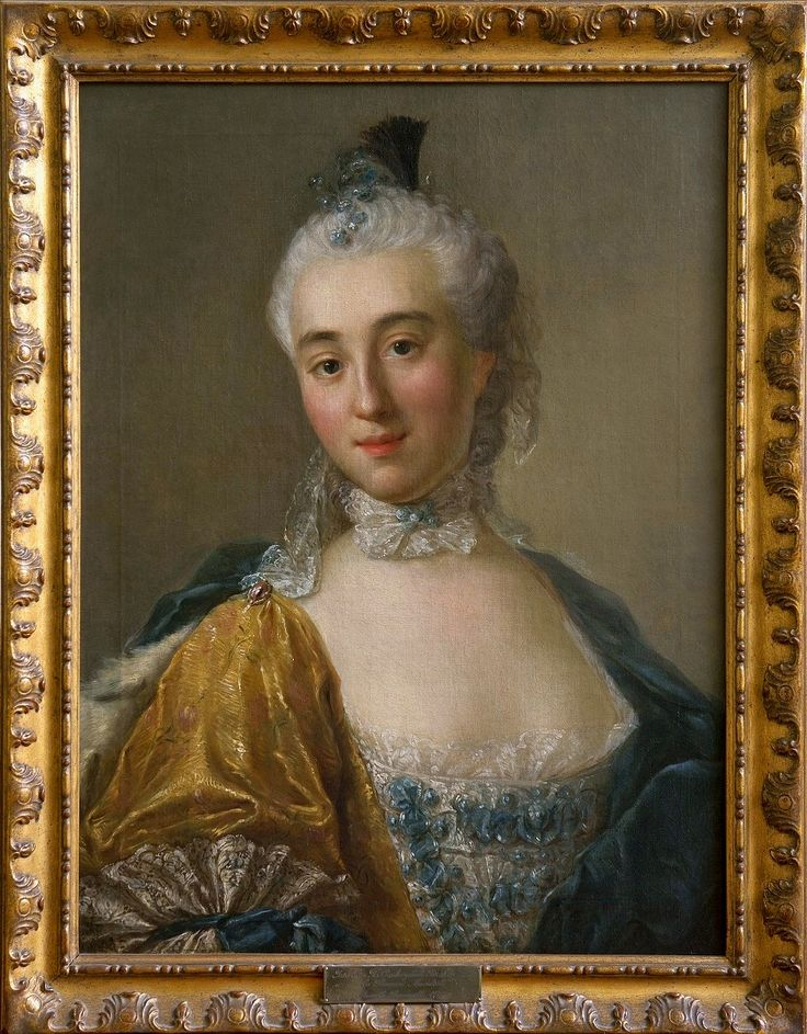 """Portrait of Izabela Lubomirska """"The Blue Marquise"""" by Anonymous, 1760s (PD-art/old), Fundacja Pinińskich"""