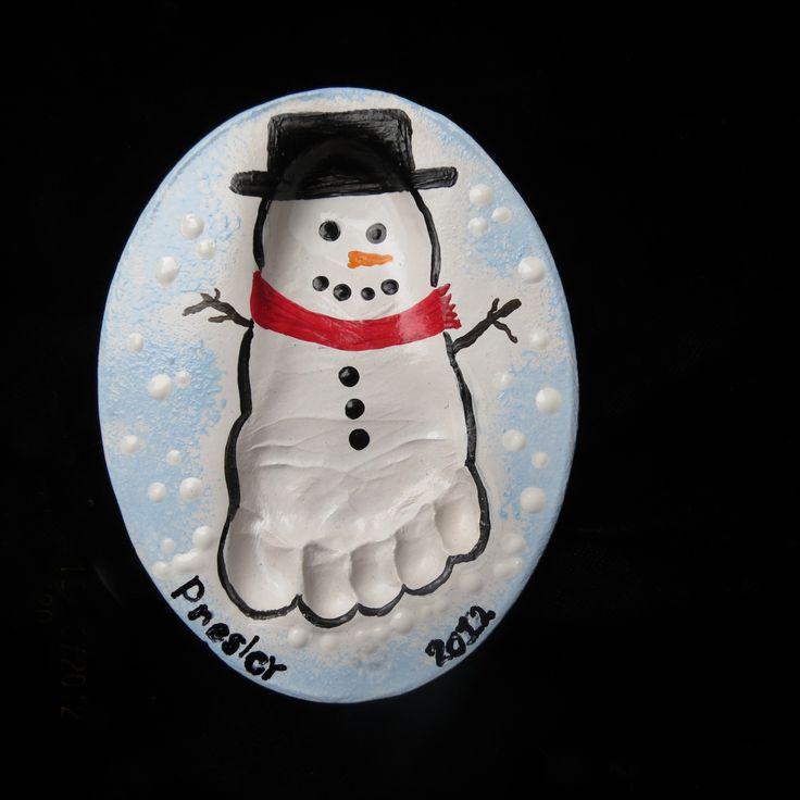 clay handprint santa | Handprints in Clay: christmas themed ornaments