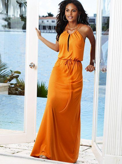 Best 25  Orange maxi dresses ideas only on Pinterest | Bohemian ...