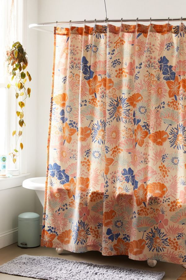 Gail Floral Shower Curtain Urban Outfitters Canada In 2020