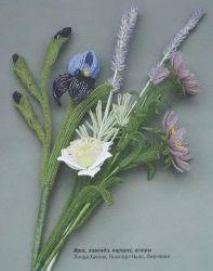 Un ramo de flores de los granos