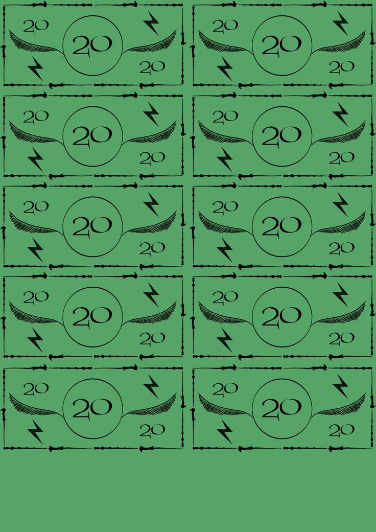 Harry Potter Monopoly Money - Imgur