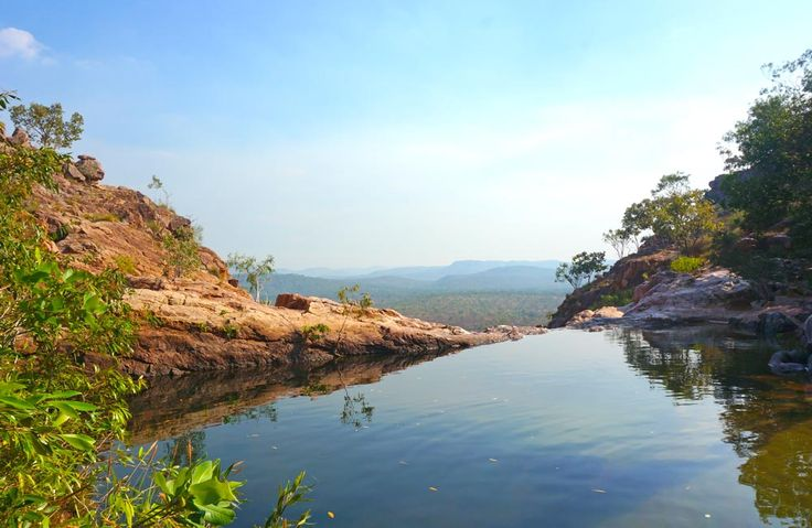 The best thing to do in Kakadu with kids is swim at the top of Gunlom Falls - natural infinity pool anyone!?