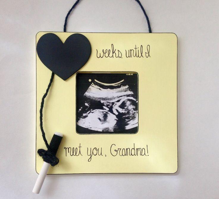 Ultrasound frame- pregnancy reveal to Grandparents- sonogram frame by EmbellishedForLove on Etsy https://www.etsy.com/listing/224068558/ultrasound-frame-pregnancy-reveal-to
