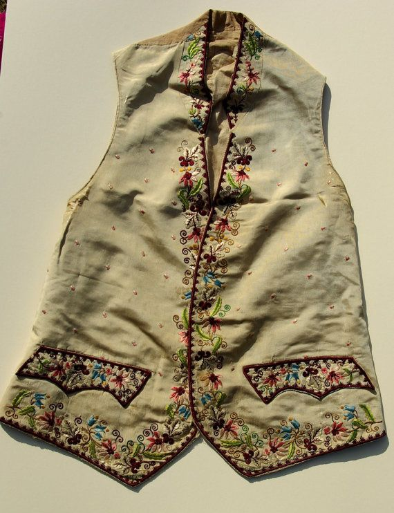 Body Central Sale >> Antique 18th century silk embroidered mens waistcoat now ...