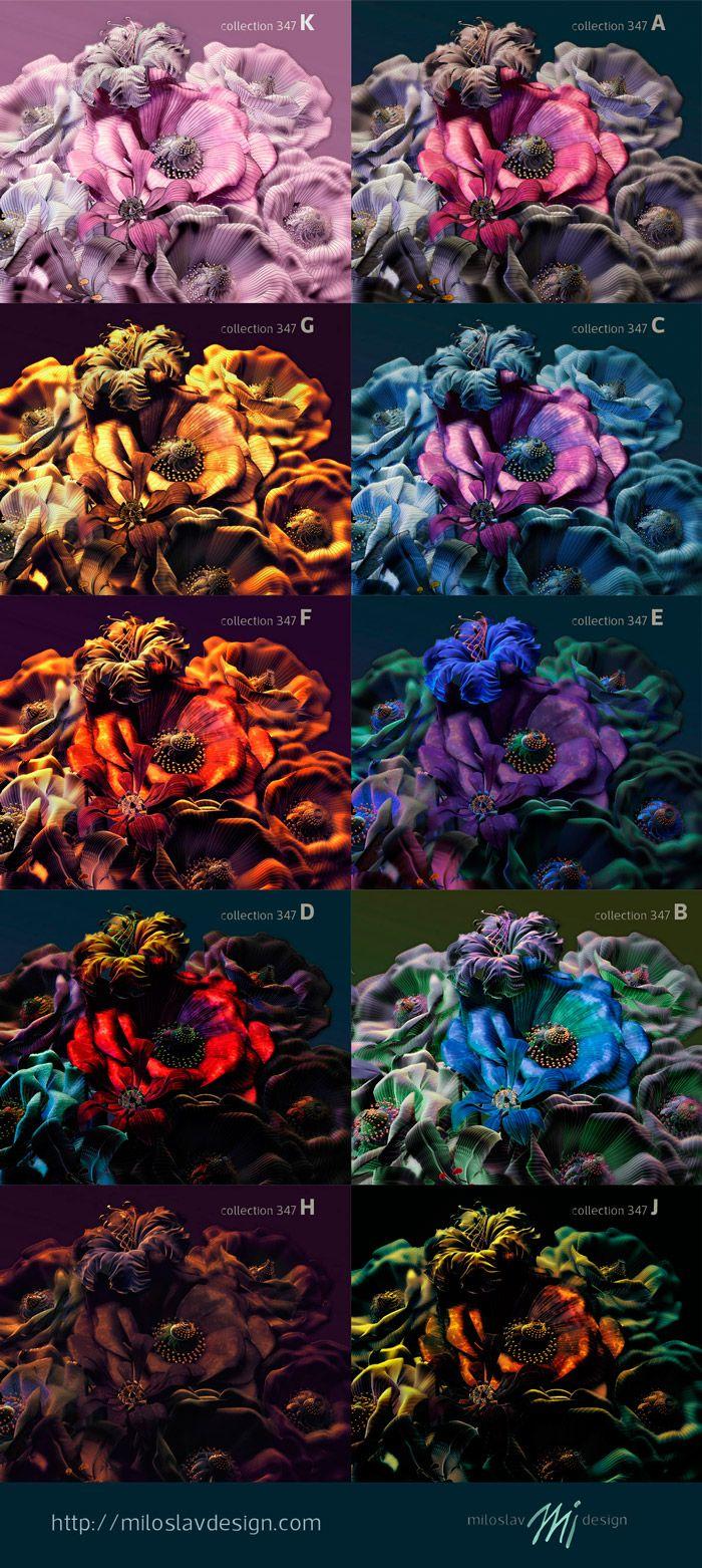 #wallpaper #mural print #flower #design #color options