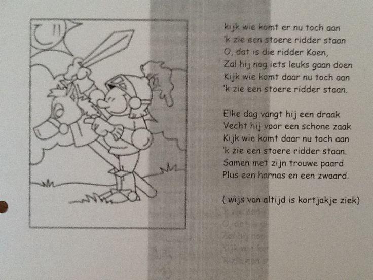 Versje over een ridder thema ridders en jonkvrouwen for Werkbladen ridders en kastelen