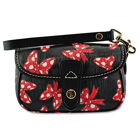 Minnie Mouse Bow Wristlet Bag by Dooney & Bourke -- Black...dying for this! Wasn't in Disney last time I was there and now it's available again!