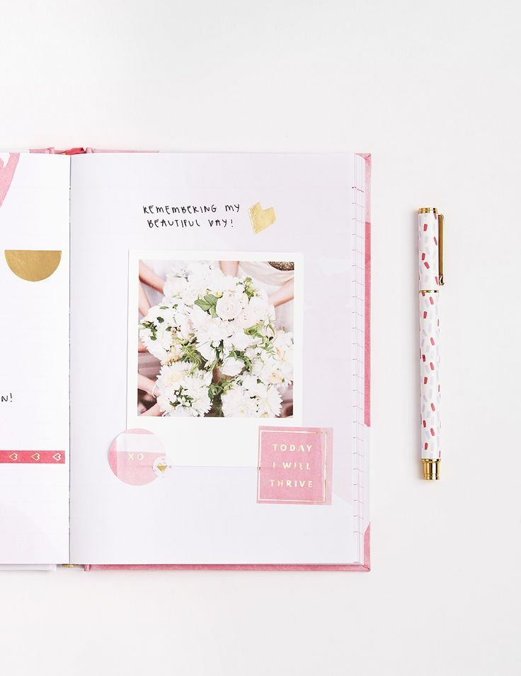 Be inspired to plan your dreams with this gorgeous watercolour design pink lavender A5 Feature Journal