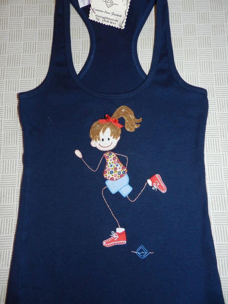 Camiseta patchwork. Camisetas elena