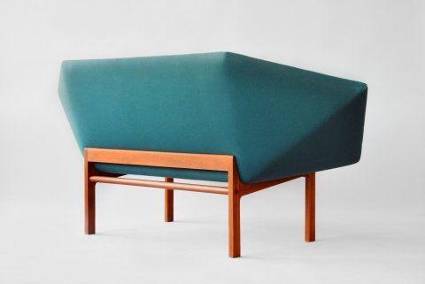 prisma sofa 1963 by danish designers tove & edward kindt-larsen