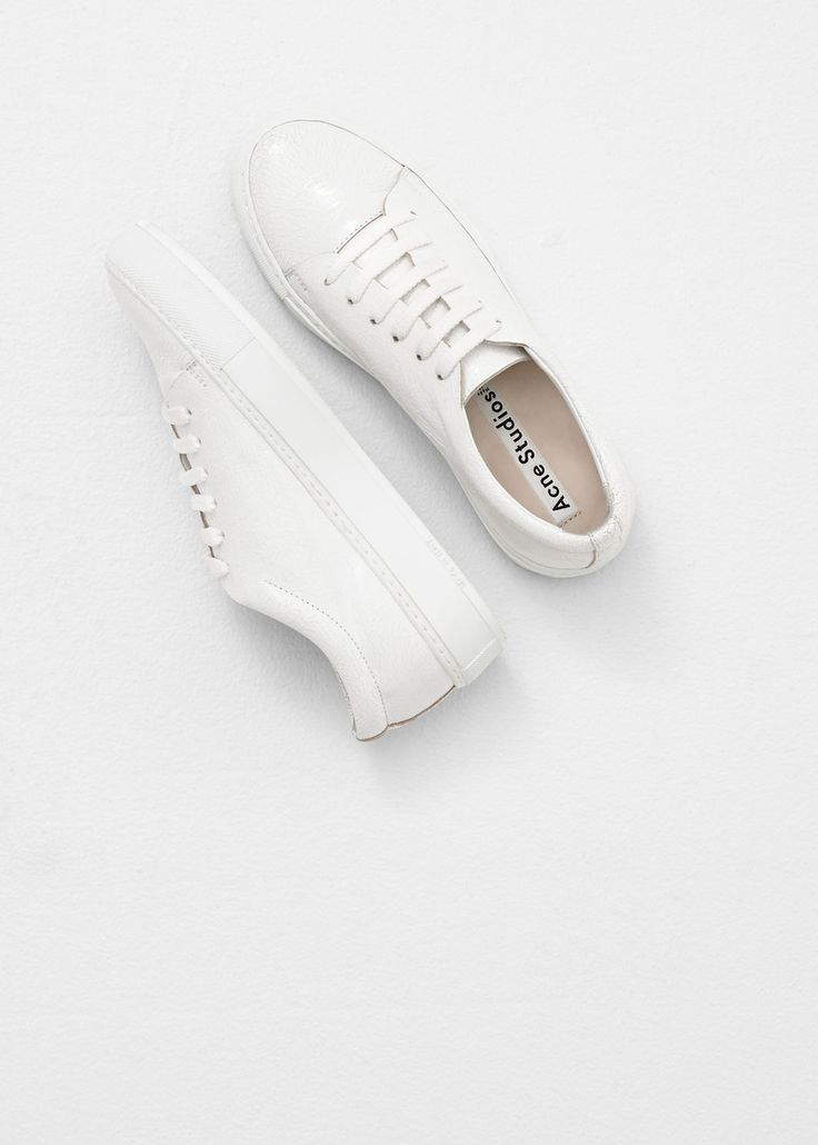 all white acne sneakers spring 2015