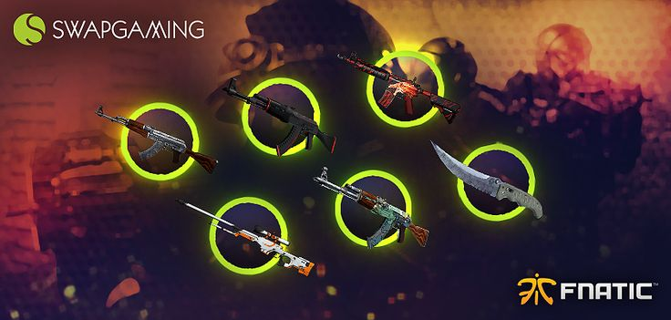 I just entered the Fnatic & Swap Gaming giveaway! Take part now and you could win some awesome CS:GO skins.