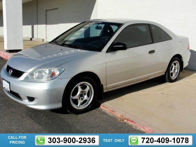 2004 Honda Civic 2dr Coupe Silver $3,920 140011 miles 303-900-2936 Transmission: Manual  #Honda #Civic #used #cars #HighlineAutomotive #Denver #CO #tapcars