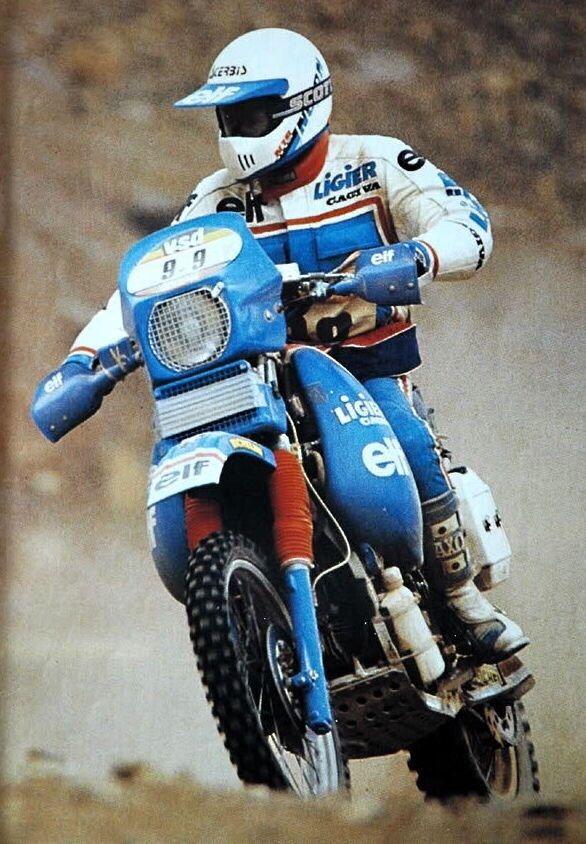 Giampaolo Marinoni, Cagiva Ligier, Dakar Rally 1985.