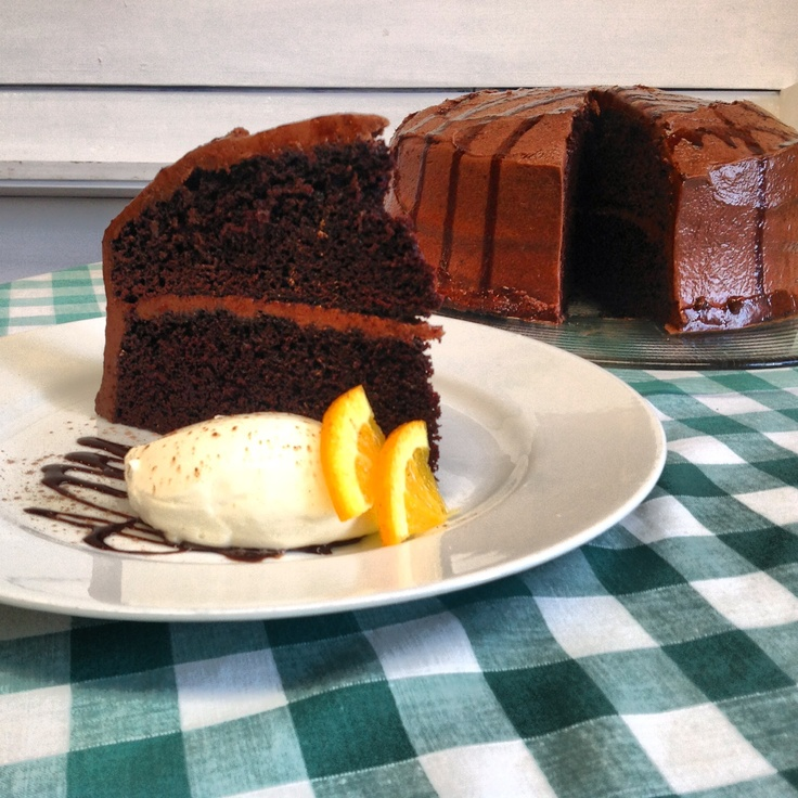 Home made chocolate cake.  Go on, you deserve it!