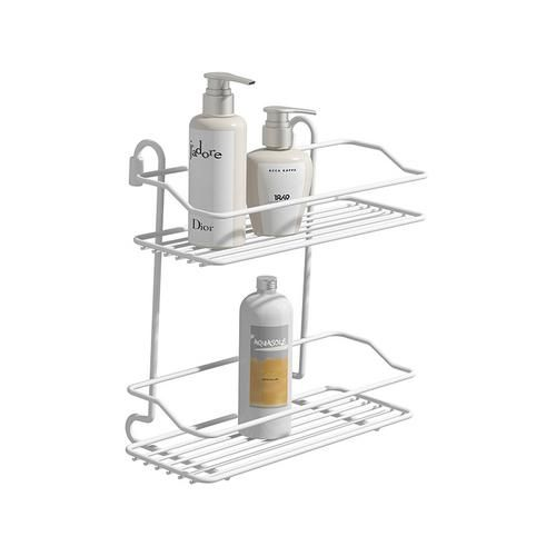 Foto 1 - Suporte Para Shampoo Duplo Banho Mais Branco