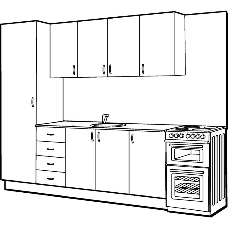 Marquee straight line modular kitchen i n 2660830 for Straight kitchen ideas