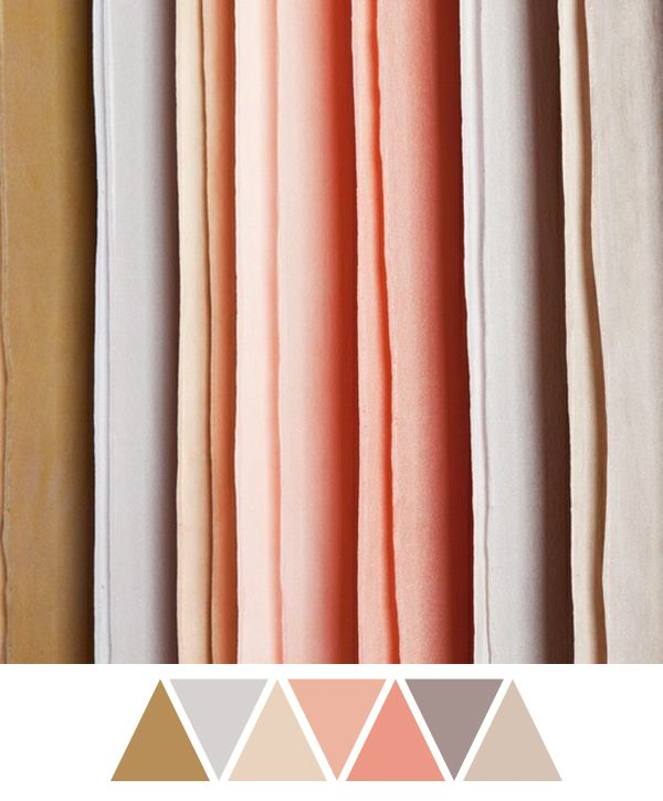 wedding color combination: pink/salmon, gray, gold, silver