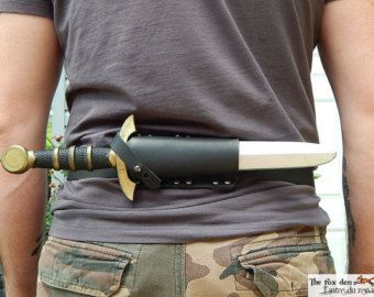 Latex dagger leather sheath with a 45 degree by lantredurenard