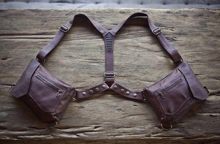 Men's Holster-Bag (Leather) Fits iPad Mini || Elfenish