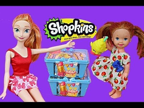 Frozen Kids Buy Shopkins Krista & Kristoff Jr Shopkins Shopping with Princess Anna by DisneyCarToys