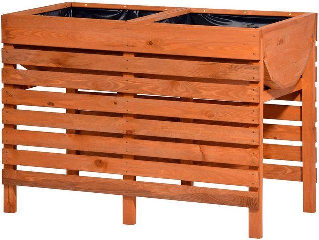 Hochbeet Gr Xl B T H 100 50 71 Cm Mit 2 Pflanzkasten Hochbeet Holz Hochbeet Pflanzen