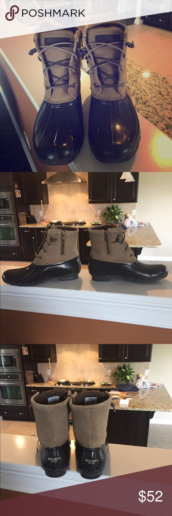 Sperry Saltwater Duck Boots Women's Great condition! Only worn twice! Size 7 Great deal...NO TRADES....PRICE FIRM! Sperry Shoes Winter & Rain Boots
