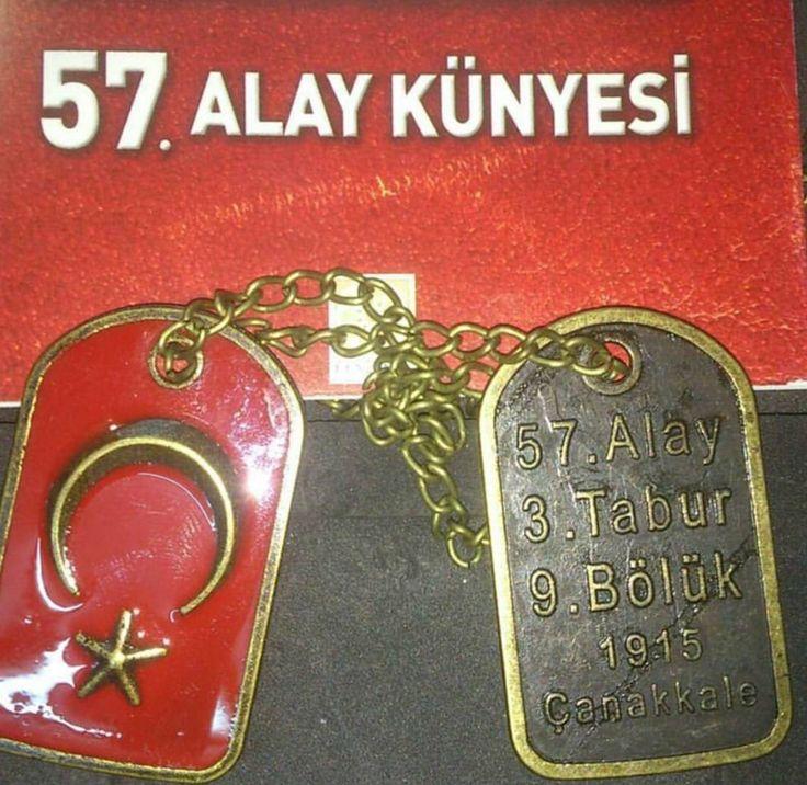 57.nci alay künyesi Çanakkale