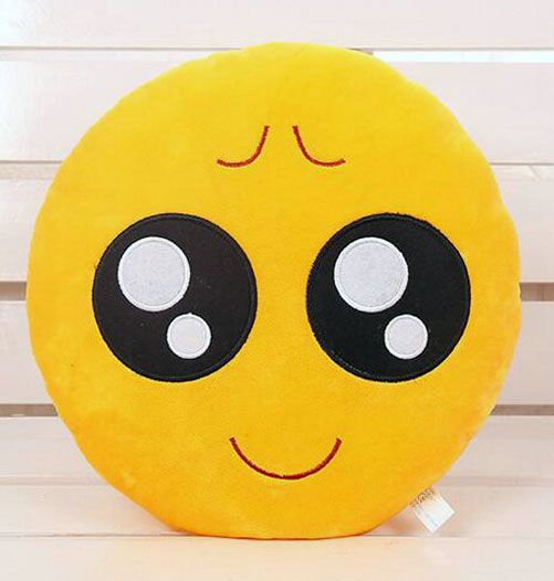 awesome Big teary eyes about to cry Emoji Pillow