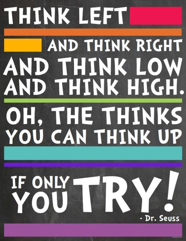 This famous Dr. Seuss book quote would make a beautiful poster to decorate a classroom, children's room, or home library!