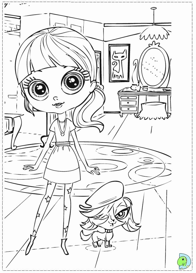 Littlest Pet Shop Coloring page | Värityskuva