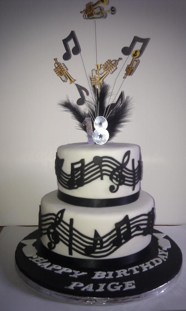 Music Trumpet Cake Cake Designs Cake Music Cakes