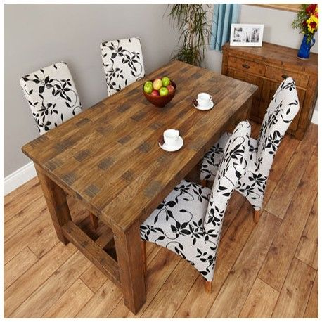 Heyford Solid Oak Rough Sawn Dining Table 4 Seater made of solid rough sawn oak wood with a chunky oak construction. This Oak Dining Table Furniture is ideal for the Dining Room or for any kitchen.